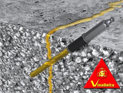 Sửa chữa vết nứt kết cấu sử dụng Sikadur 752